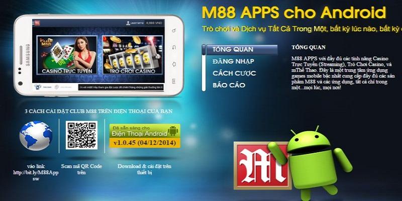 Cá độ bóng đá trên điện thoại tại m88